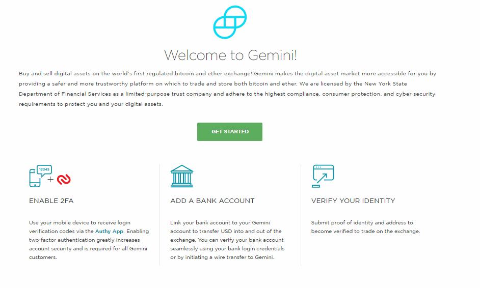 Биржа криптовалют GEMINI работает на официальном уровне