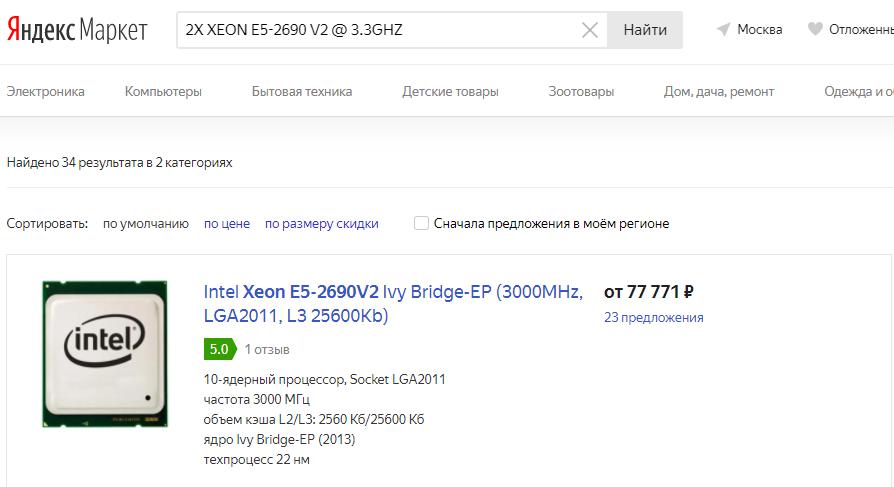Хешрейт CPU для Monero