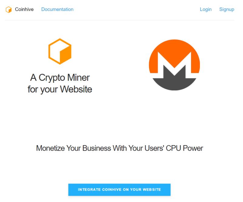 Платформа Coinhive, или что такое майнинг Монеро в браузере
