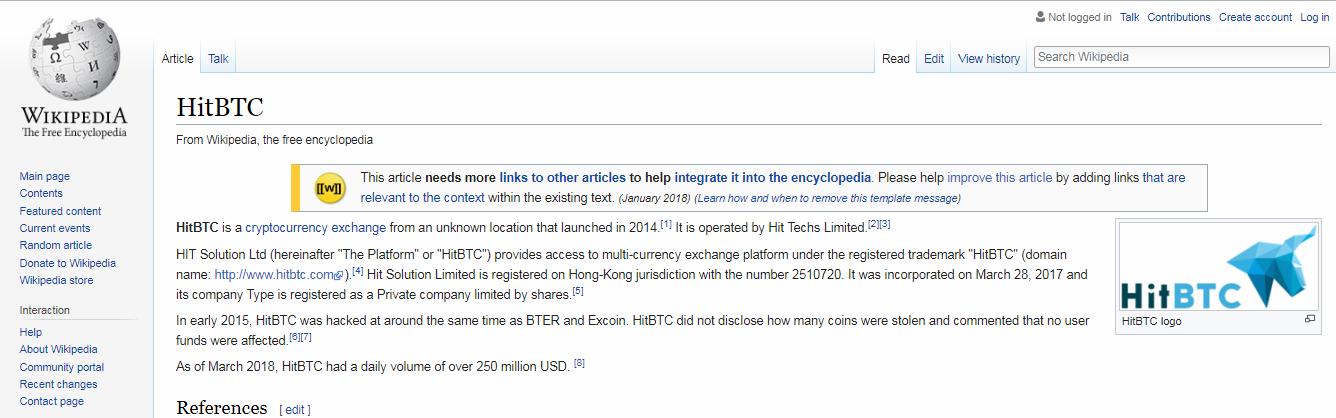 Английская биржа криптовалют HitBTC еще держится на плаву