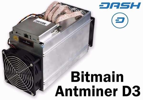 Характеристики майнера AntMiner D3