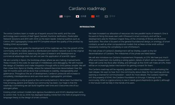 Дорожная карта Cardano