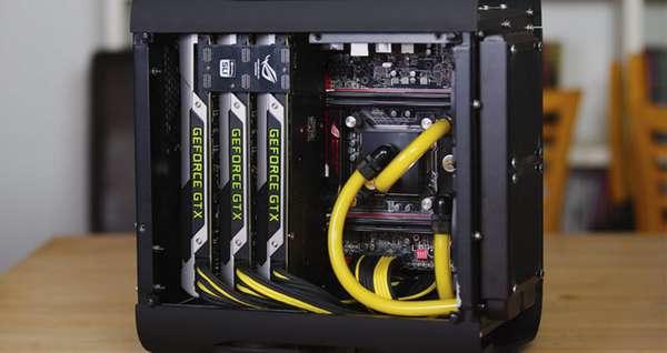 Компьютер с тремя видеокартами