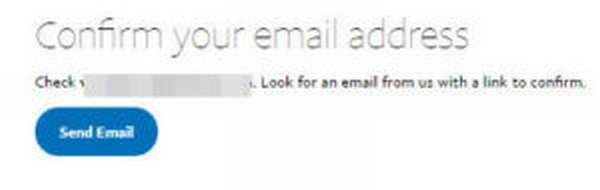 Предложение подтвердить свой email
