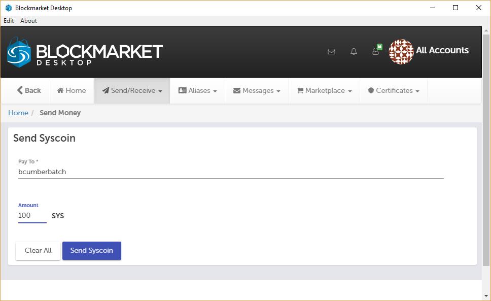 Syscoin Blockmarket Wallet