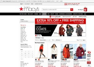 Интернет-магазин Macys.com