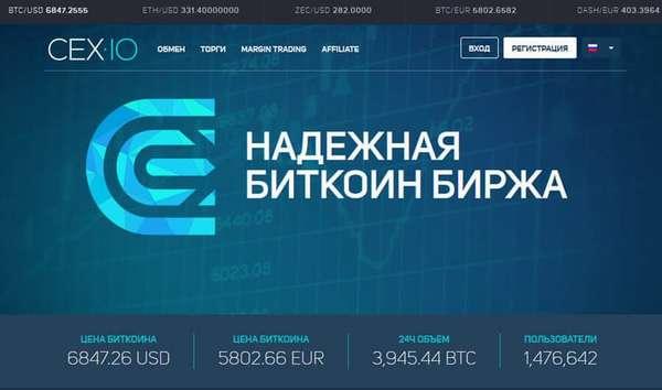 Криптовалютная биржа CEX.io