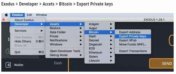 Генерация приватного ключа в Exodus